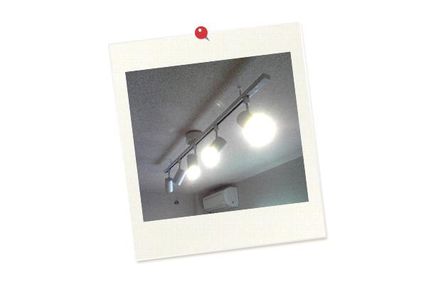 蛍光灯とは違う暖かい灯り